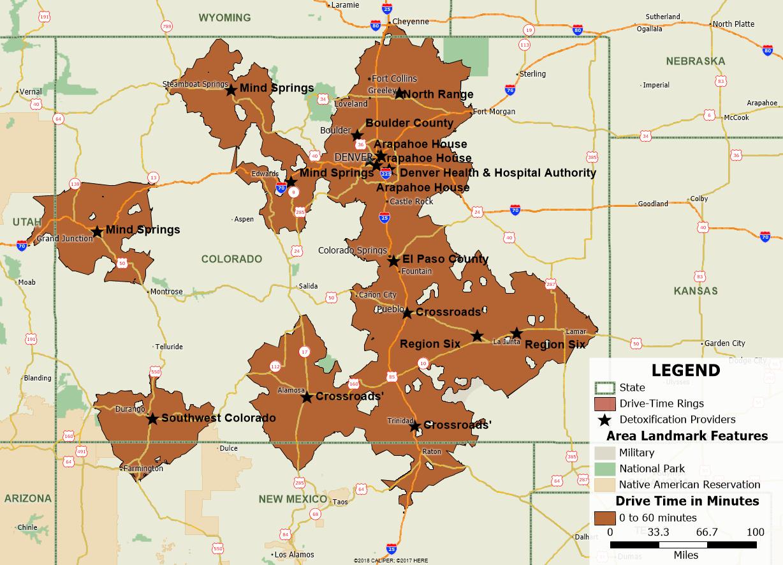 Colorado substance abuse detoxification service areas 2014